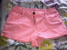 Denim Pink Mini Shorts Tapered Shorts Primark Women/'s Ladies Shorts