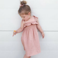 Infant Baby Girl Summer Strap Sleeveless Dress Beach Sundress Skirt Outfit HOT