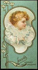 ANTIQUE TRADE CARD 1905-06 CALENDAR JACOBS CANDIES NEW ORLEANS CONFECTIONERY