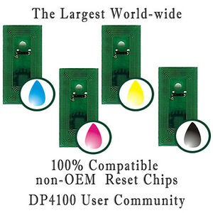 Ink Refill Chips (8 Chips - CMYK - 53606 Compatible) for Primera 4100 series