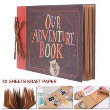 Anniversary Scrapbook DIY Photo Album Our Adventure Book Surprise Gift 80 Pages