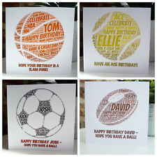 Personalised Sports Birthday Card