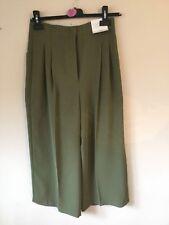 Ladies BNWOT Topshop Button Crop Wide Leg Trousers Size 6 (R)