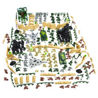 250pcs/set Army Men Soldier Tank Aircraft Military Base Sand Scene Model Toy