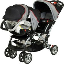 Baby Trend - Sit N Stand Plus Double Baby Infant Stroller, Car Seat Millennium
