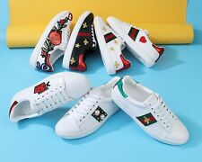 MW008910 - GENUINE LEATHER EMBROIDERED TRAINERS (WOMEN 35-44) (MEN 39-45)