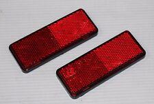 Paire de reflecteur / réflecteur rouge autocollant rectangle Catadioptre