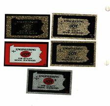 New listing Nice Rare Set Of 5 Pa Engineering Joy Coal Mining Stickers # 452