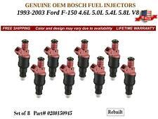 8 Fuel Injectors OEM BOSCH for 1993-03 Ford F-150 4.6L 5.0L 5.4L V8 #0280150945