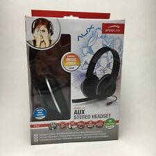 Speedlink AUX Stereo Headset with Microphone - Black PC & Smartphone - New
