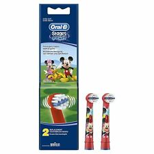 2 Oral-B Stages Kids Electric Toothbrush Replacement Head Mickey Mouse Clubhouse