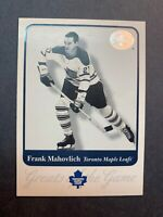 2001 Fleer Greats Of The Game #55 Frank Mahovlich Toronto Maple Leafs Legend