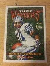 1996 Topps Turf Warriors Barry Sanders. Felt Card.