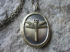 BRONZE DRAGONFLY LOCKET -ANTIQUE BRONZE, INSECT, QUALITY, UNIQUE, SUMMER