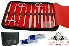 New Prof.13 Pcs Basic Medical Dissecting Kit - Surgical Anatomy Set Instruments