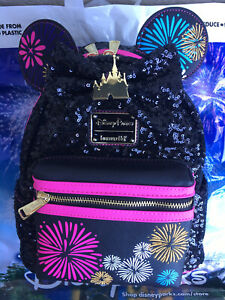 Disney Minnie Mouse The Main Attraction Nighttime Fireworks & Castle Backpack