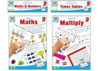 20 Wipe Clean Educational Learning Worksheets with Pen Kids Numbers Times Tables