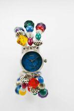 Fiera Womens Watch Silver Stainless Steel Water Resistant Battery Beads Quartz