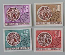 France 1971 non dentelé YT préoblitérés 130 à 133 neuf luxe ** cote 61 euros