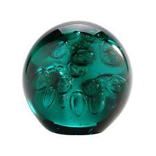 """New 4"""" Hand Blown Art Glass Ball Paperweight Sculpture Figurine Bubble Green"""