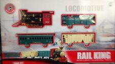 Classic Toy Railway Train Track Set w/ Light & Smoke Sound Huge Size XMAS GIFT
