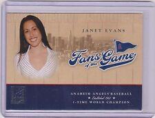 2004 DONRUSS ELITE FANS FOTG JANET EVANS CARD #204 ~ OLYMPICS ~ US SWIMMING