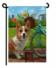 Corgi Garden Flag summer spring park pembroke welsh cardigan dog park Art