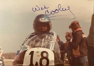 WES COOLEY : RARE AUTOGRAPH ,WINNER 1979 & 1980 AMA SUPERBIKES CHAMPIONSHIPS