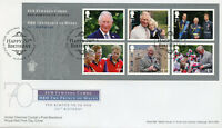 GB 2018 FDC Prince Charles 70th William Harry 6v S/A M/S Cover Royalty Stamps