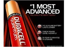 4 NEW DURACELL QUANTUM AAA BATTERIES, SUPERIOR LIFE COMPARED TO OTHER BATTERIES