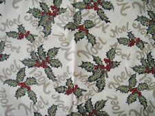 STAR OF WONDER HOLLY/BERRIES/NOEL FABRIC NAPKINS - S/6