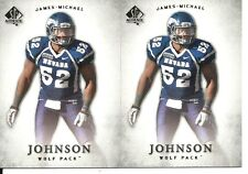 James-Michael Johnson 2 Card Rookie Rc 2012 SP Authentic #46 Nevada Wolf Pack