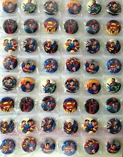 SUPERMAN 3CM 48x PIN BADGES NEW FOR PARTY CLOTH BAG SUPER HEROES MARVEL
