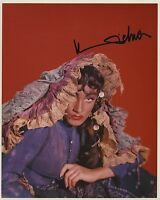 MARLENE DIETRICH SIGNED AUTOGRAPHED COLOR 8X10 PHOTO STUNNING POSE!!
