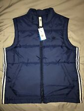 Adidas Padded Puffer Vest mens Blue sz L Nwt