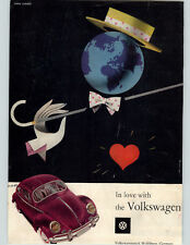 1955 Paper Ad COLOR Volkswagen Volkswagenwerk Wolfsburg Germany Car Earth Image