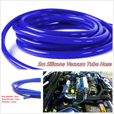 Blue 4mm Blue Car Vehicle Silicone Tubing Vacuum Tube Hose Tubing Pipe 16.4ft 5M