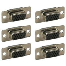 6x D-SUB 15-Pin DB15 HD15 VGA SVGA Female Assembly Solder Connector Cup Socket