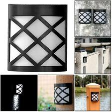 Solar Powered Wall Mount LED Light Garden Path Landscape Outdoor Fence Yard Lamp