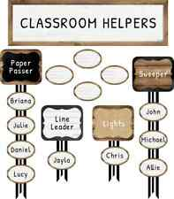 CD 110399 Industrial Chic Classroom Jobs Mini Bulletin Board Teacher Supplies