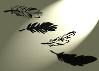 Shabby Chic stencil Feather group Rustic Vintage style A4 297x210mm Furniture