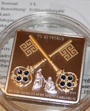 5 Dollar Cook Island silber 2008 Vatikan Schlüsselübergabe