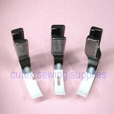 High Shank Teflon Narrow Zipper Foot Set - Center, Left & Right Presser Foot