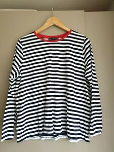 Marks and Spencer Women's Striped Long Sleeve T-Shirt Size 18
