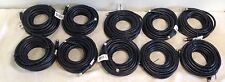 Lot of 10 25ft RG6 Screw on F,75ohm Coax/Coaxial TV/Satellite/Cable/Digital Cord