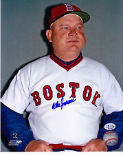 DON ZIMMER  BOSTON RED SOX   ACTION SIGNED 8x10