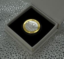 More details for rms titanic silver & 24ct gold commemorative in presentation/gift case/box.