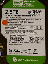 2,5tb western digital WD 25 ezrx - 00 mmmb 0/hbrchv 2aab/19 Aug 2011-disco rigido