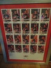 Signed cards/2002 US WOMEN'S OLYMPIC ICE HOCKEY TEAM custom framed/matted/Cammi