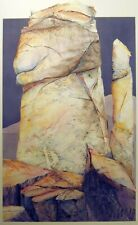 "Sylvia Long ""Bear Climbing Tree"" Original Colored Pencil/Mixed Media Drawing OBO"